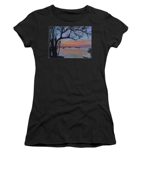 Marsh Harbour At Sunset Women's T-Shirt (Athletic Fit)