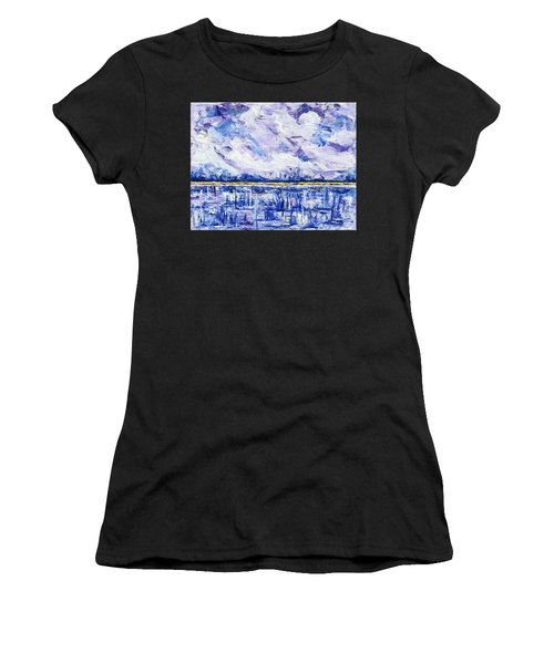 Women's T-Shirt featuring the painting Marsh Madness by Kathryn Riley Parker