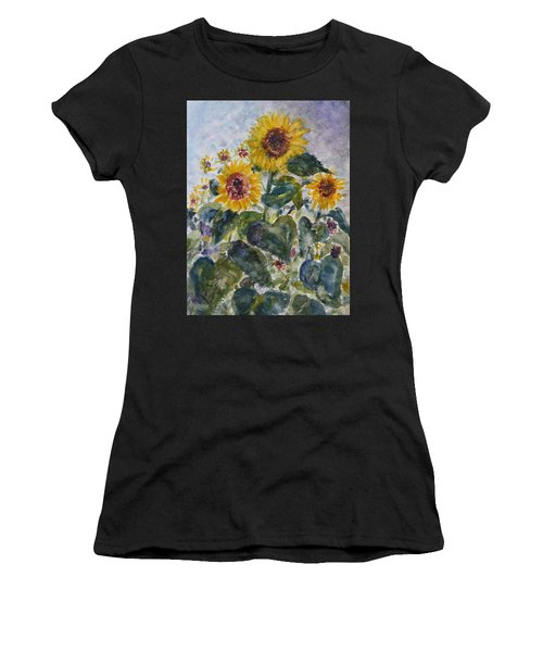 Martha's Sunflowers Women's T-Shirt (Athletic Fit)