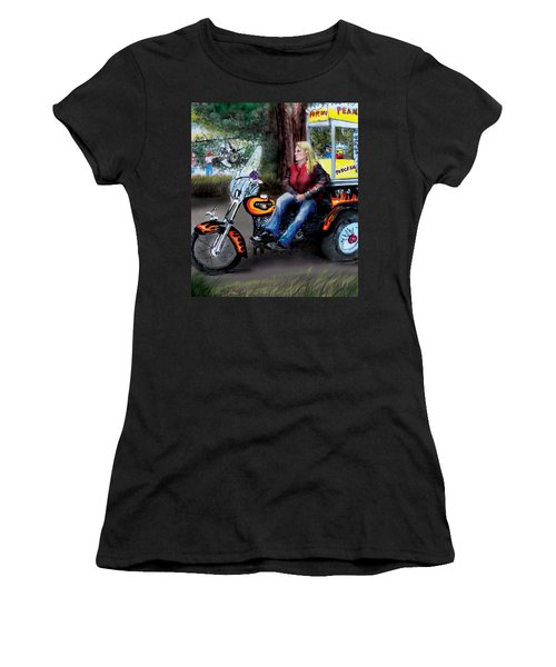 Marty's Harley Women's T-Shirt (Junior Cut) by Albert Puskaric