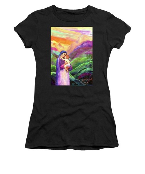 Mary And Baby Jesus Gift Of Love Women's T-Shirt