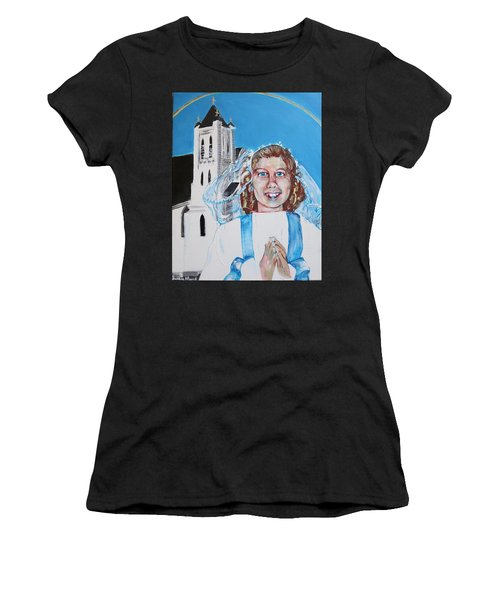 Mary's First Communion Women's T-Shirt (Athletic Fit)