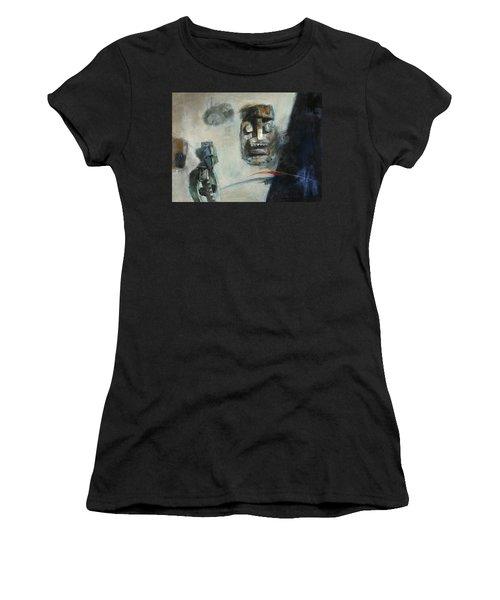 Symbol Mask Painting -02 Women's T-Shirt (Junior Cut) by Behzad Sohrabi