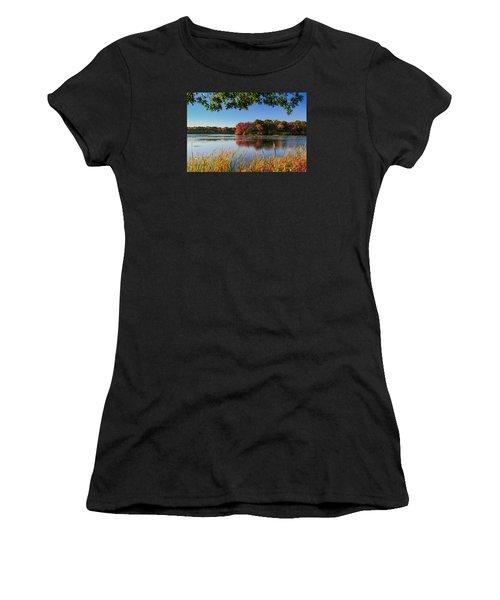 Women's T-Shirt (Junior Cut) featuring the photograph Massapequa Nature Preserve by Jose Oquendo