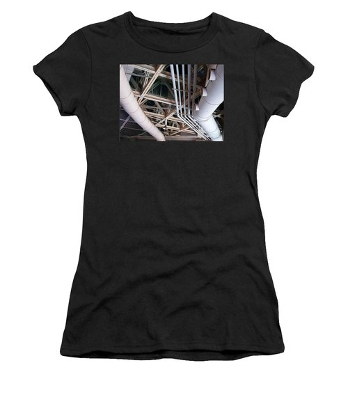 Women's T-Shirt (Athletic Fit) featuring the photograph Massive Ventilation Pipes by Yali Shi