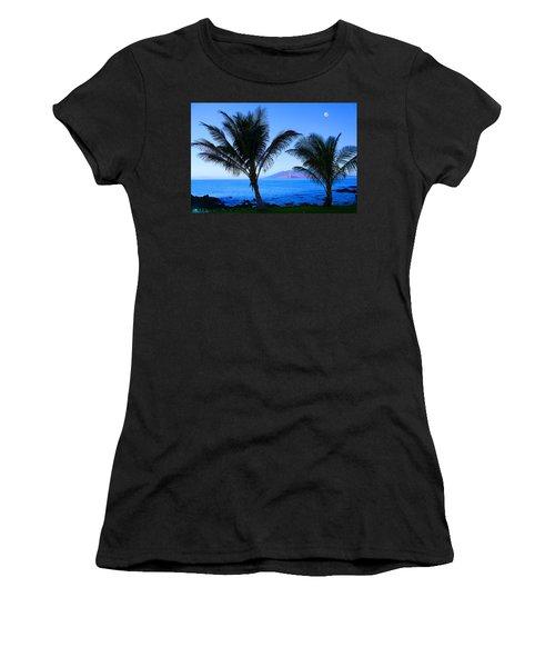 Maui Coastline Women's T-Shirt (Junior Cut) by Michael Rucker