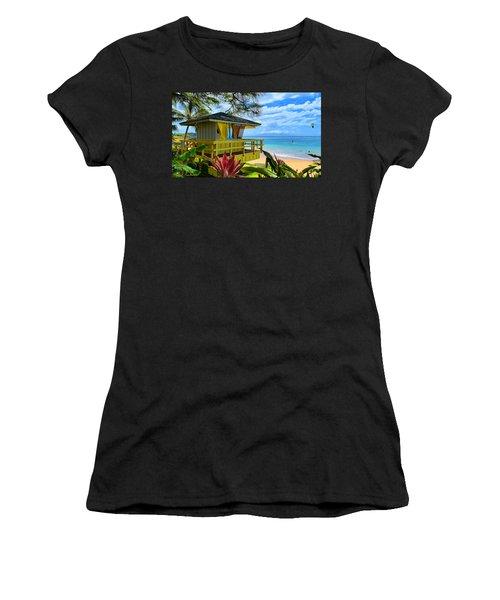 Maui Kamaole Beach Women's T-Shirt (Junior Cut) by Michael Rucker