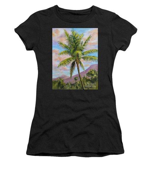 Maui Palm Women's T-Shirt (Athletic Fit)