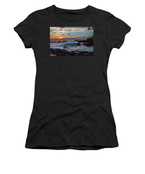 Maui Sunset At Secret Beach Women's T-Shirt