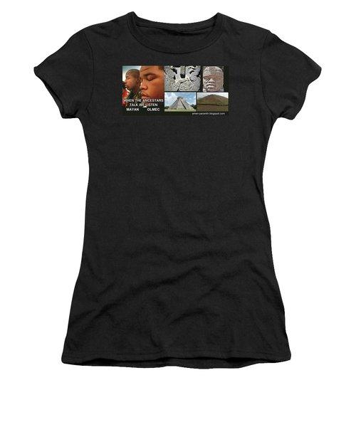 Mayan Olmec Women's T-Shirt (Athletic Fit)