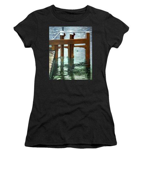 Maynooth Lock Women's T-Shirt (Junior Cut) by Marty Garland