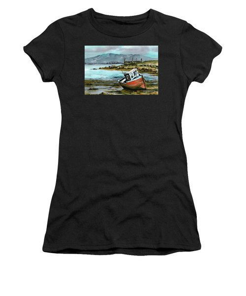 Mayo..red Boat At Coraun. Women's T-Shirt