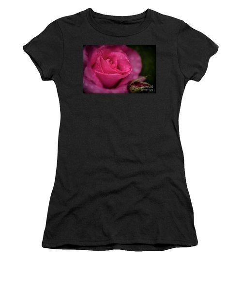 Mccartney Rose Women's T-Shirt (Junior Cut) by Judy Wolinsky