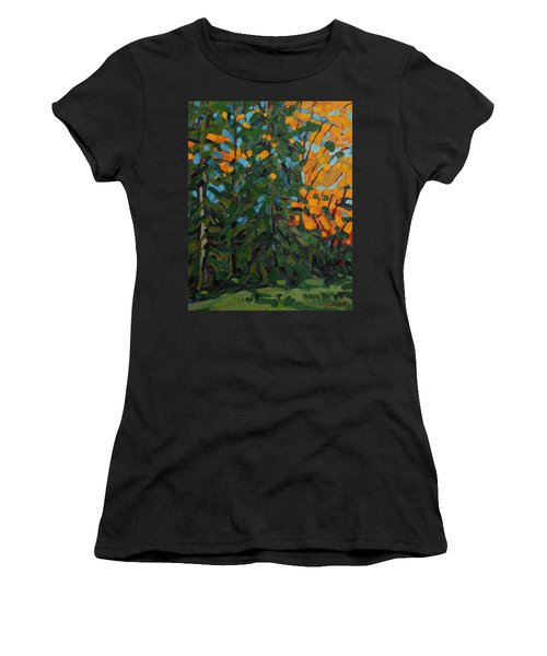 Mcmichael Forest Wall Women's T-Shirt (Athletic Fit)