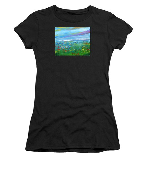 Meadow Drops By Colleen Ranney Women's T-Shirt (Athletic Fit)