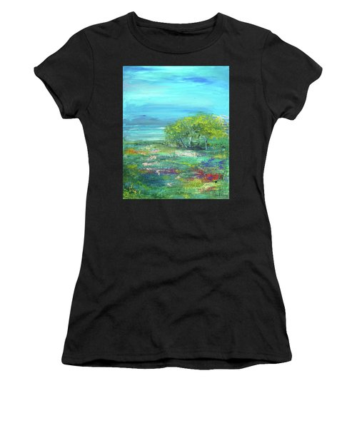 Meadow Trees Women's T-Shirt (Athletic Fit)