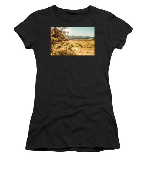 Meadows And Mountains Women's T-Shirt