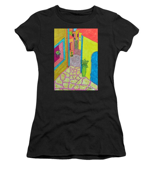 Med Town Women's T-Shirt (Athletic Fit)