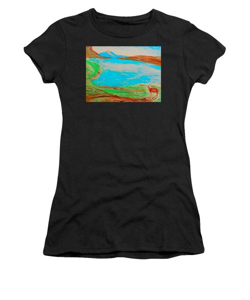 Medicine Lake Women's T-Shirt (Athletic Fit)
