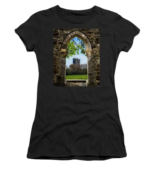 Women's T-Shirt (Athletic Fit) featuring the photograph Medieval Vista Of Dysert O'dea Castle by James Truett