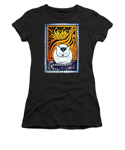 Meditation - Cat Art By Dora Hathazi Mendes Women's T-Shirt (Athletic Fit)