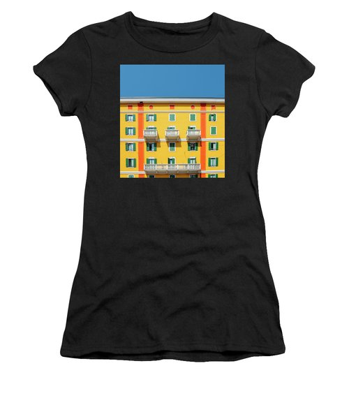 Mediterranean Colours On Building Facade Women's T-Shirt