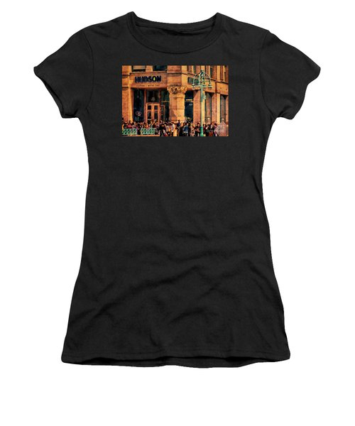 Meet You At Hudson's Women's T-Shirt (Junior Cut) by David Blank