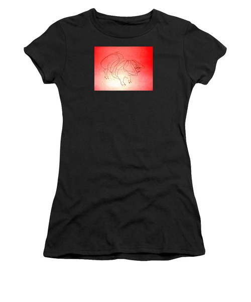 Meishan Sow 3 Women's T-Shirt (Athletic Fit)