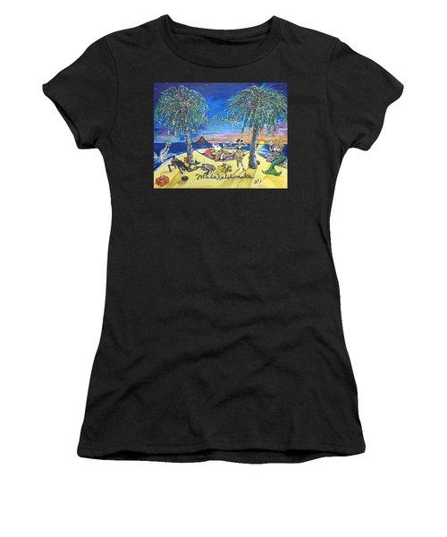 Mele Kalikimaka Women's T-Shirt (Athletic Fit)