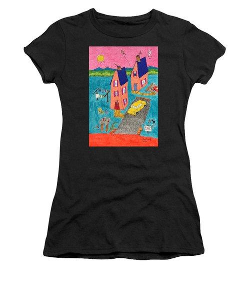 Melon Houses Women's T-Shirt (Athletic Fit)