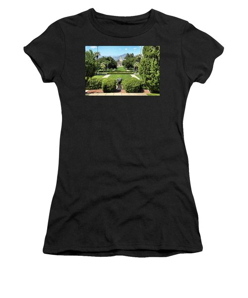 Memorial Chapel University Of Redlands Women's T-Shirt (Athletic Fit)