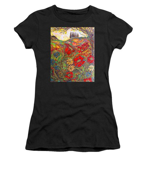 Memories Of Tuscany Women's T-Shirt (Athletic Fit)