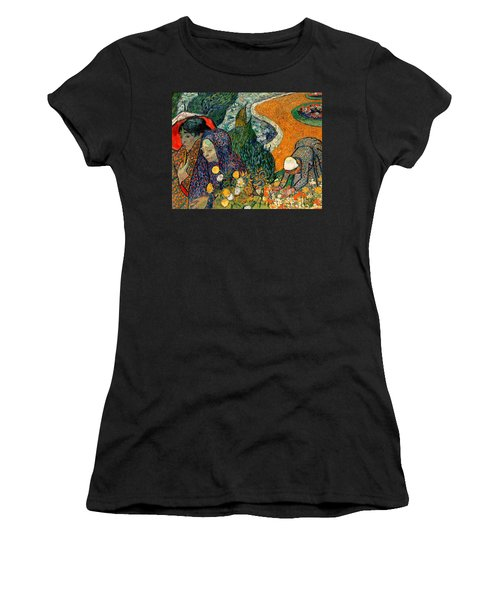 Women's T-Shirt featuring the painting Memory Of The Garden At Etten by Van Gogh