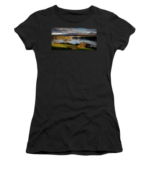 Menai Strait From Anglesey Women's T-Shirt (Athletic Fit)