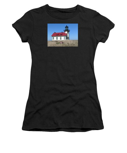 Mendocino Lighthouse Women's T-Shirt (Athletic Fit)