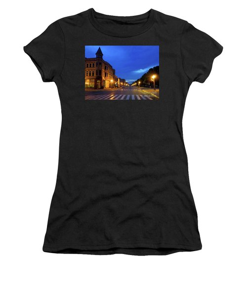 Menominee Michigan Night Lights Women's T-Shirt