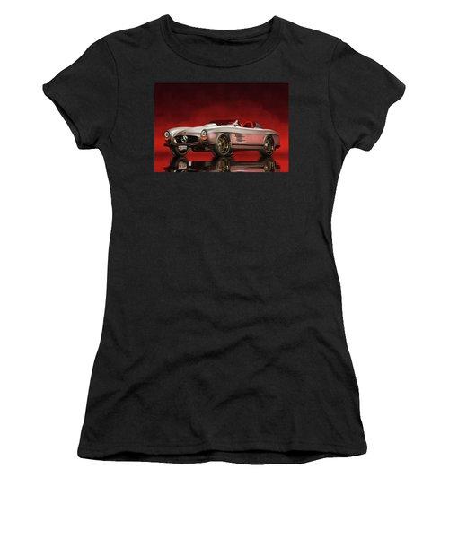 Mercedes 300sl Daytona Roadster Women's T-Shirt (Athletic Fit)
