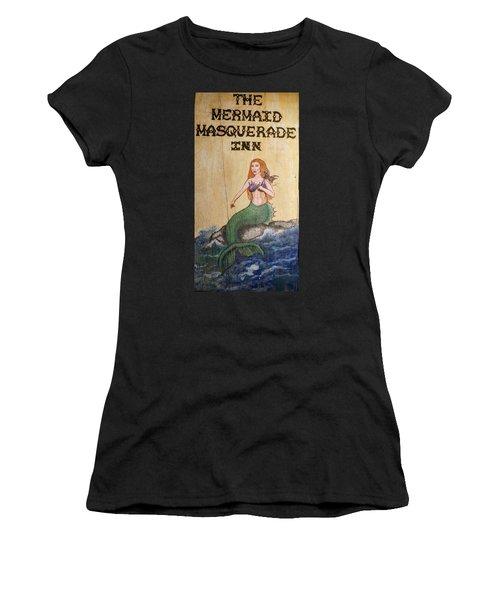 Mermaid Masquerade Inn Women's T-Shirt (Athletic Fit)