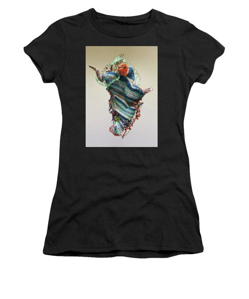 Mermaid Sculpture Women's T-Shirt (Athletic Fit)