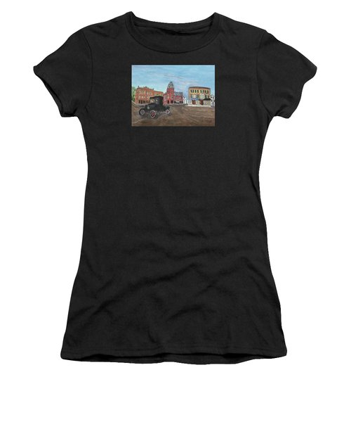 Old New England Town Women's T-Shirt (Athletic Fit)