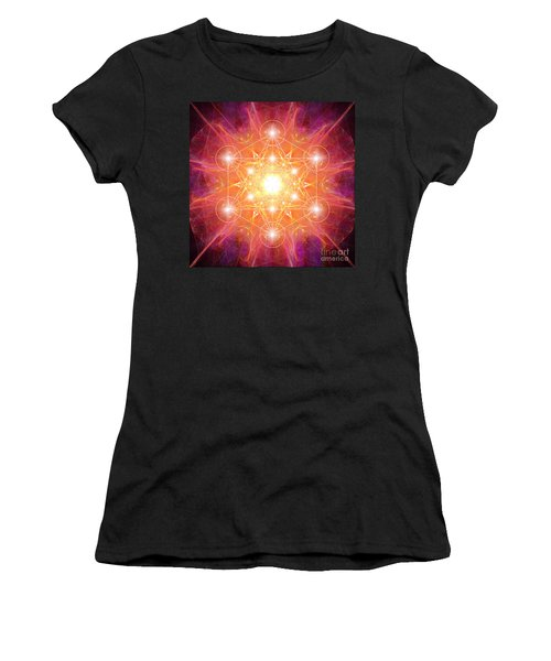 Metatron's Cube Shiny Women's T-Shirt
