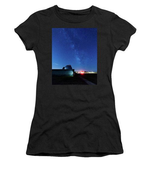 Meteor And Observatory Women's T-Shirt (Junior Cut) by Jay Stockhaus