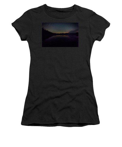 Meteor Over Chocorua Lake Women's T-Shirt