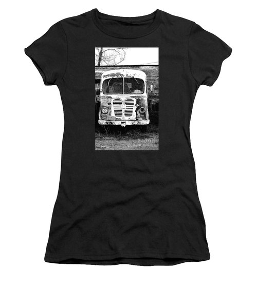Metro Black And White Women's T-Shirt (Athletic Fit)