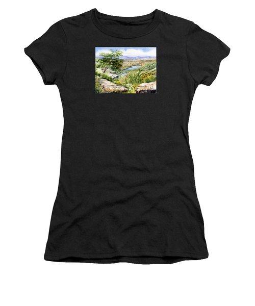 Mexican Landscape Watercolor Women's T-Shirt