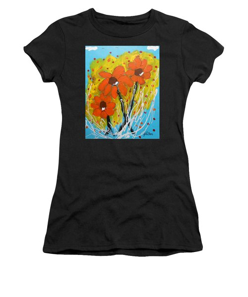 Mexican Sunflowers Flower Garden Women's T-Shirt (Athletic Fit)