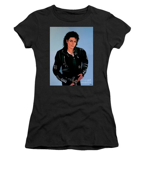 Michael Jackson Bad Women's T-Shirt (Junior Cut) by Paul Meijering