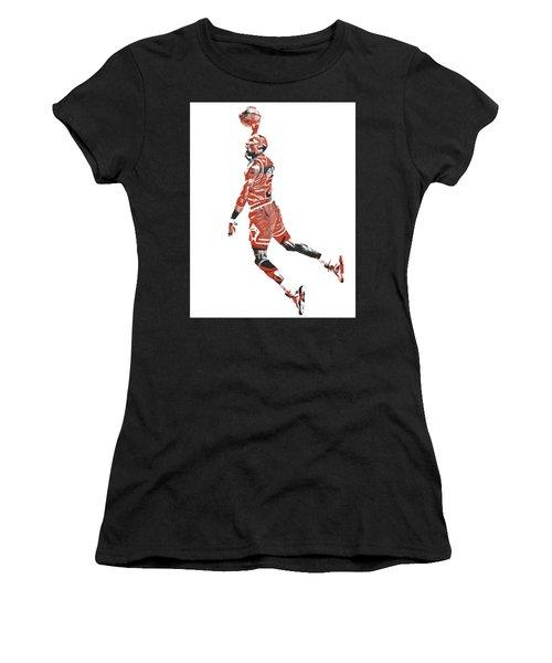 Michael Jordan Chicago Bulls Pixel Art 11 Women's T-Shirt