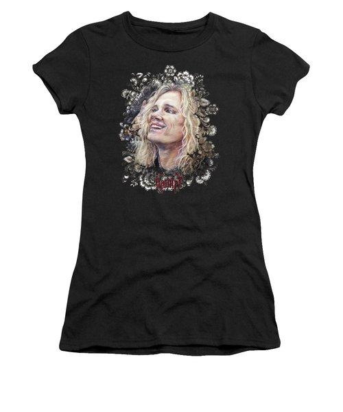 Michael Starr Steel Panther Women's T-Shirt (Junior Cut) by Inna Volvak