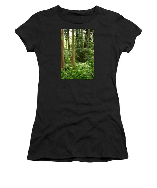 Women's T-Shirt featuring the photograph Michigan Woods 3 by Linda Shafer